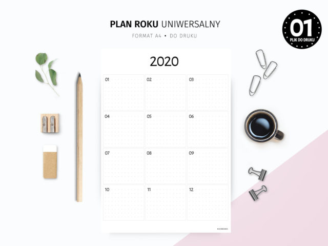 Uniwersalny plan roku do druku