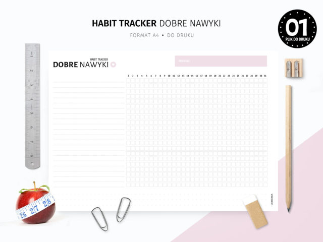 Habit tracker do druku