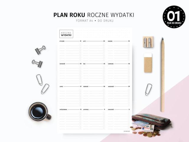 Plan roku Roczne wydatki do druku