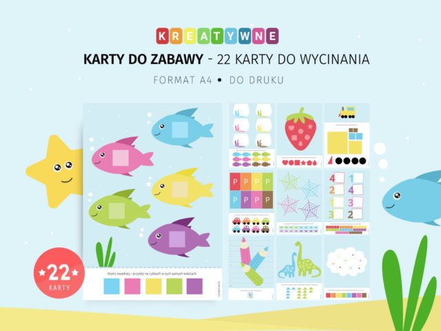 Kreatywne karty do zabawy - 22 karty do wycinania do druku