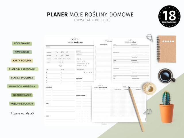 Planer Moje rośliny domowe - do druku