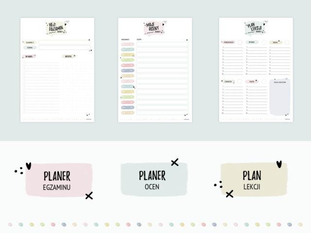 Planer szkolny do druku
