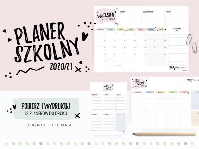 Planer szkolny ucznia 2020/21 - do druku