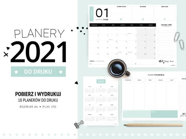 Planery 2021 do druku - Klasyczne miętowe