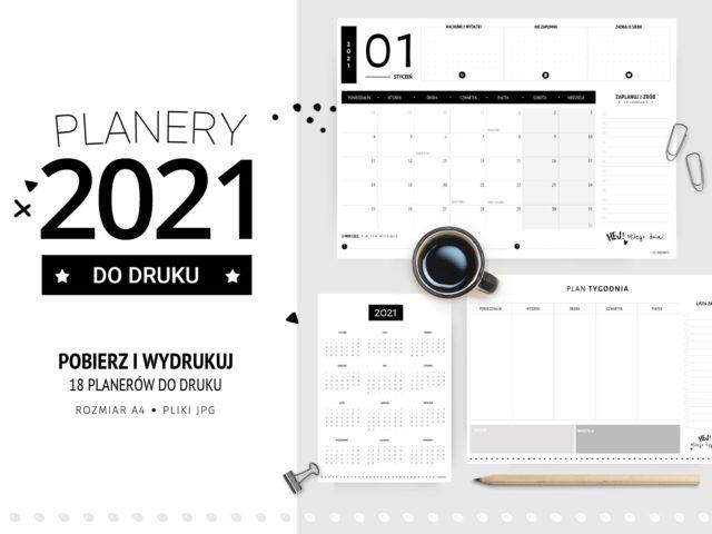 Planery 2021 do druku – Klasyczne czarne