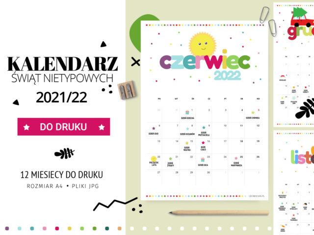 Kalendarz Świąt Nietypowych 2021/22 - do druku