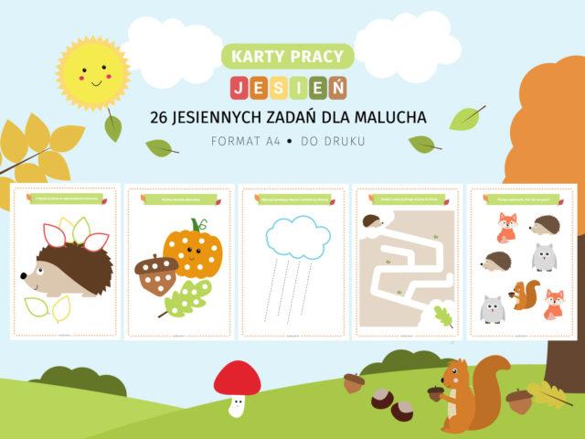 Jesień dla malucha - karty pracy do druku