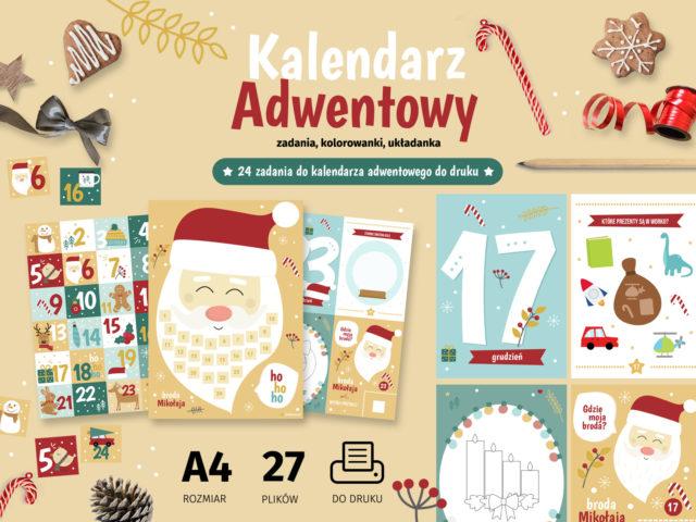Zadania do kalendarza adwentowego do druku